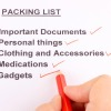 create a packing list and avoid stress