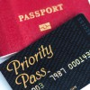Priority Pass for VIP lounge access and international passport.
