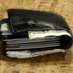 A bulging overstuffed wallet